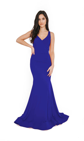 1013652 Royal Dynasty Low Back Evening Prom Dress - Fab Frocks