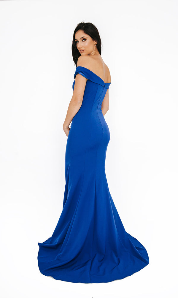 1013655 Royal Dynasty Bardot Off The Shoulder Prom Dress - Fab Frocks