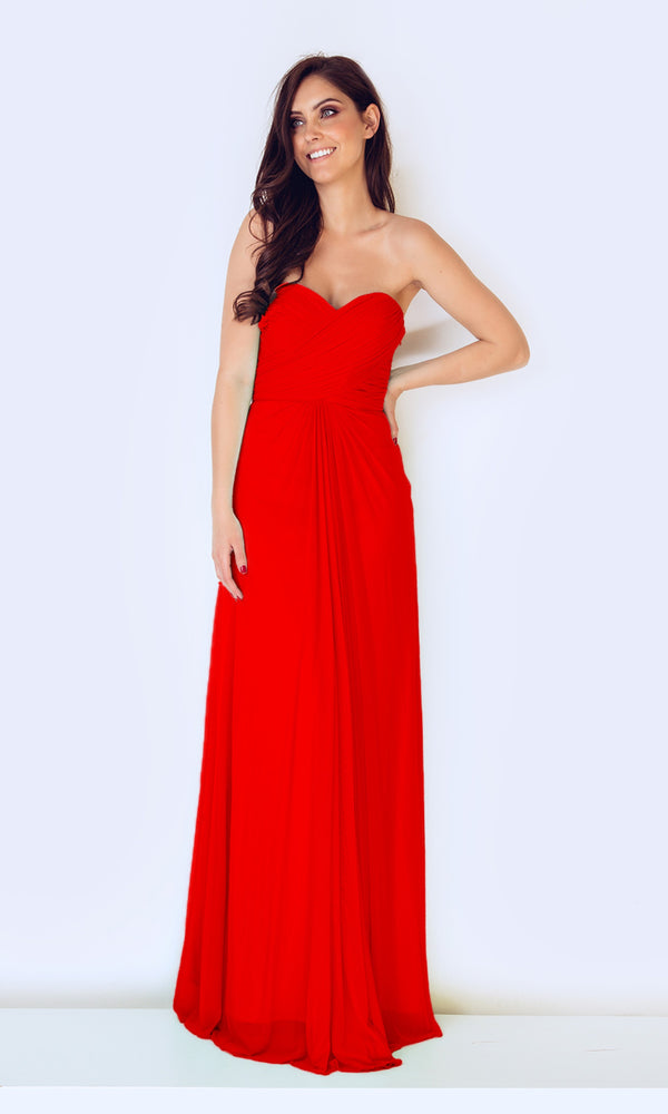 1022427 Jewel Red Dynasty Strapless Evening Dress