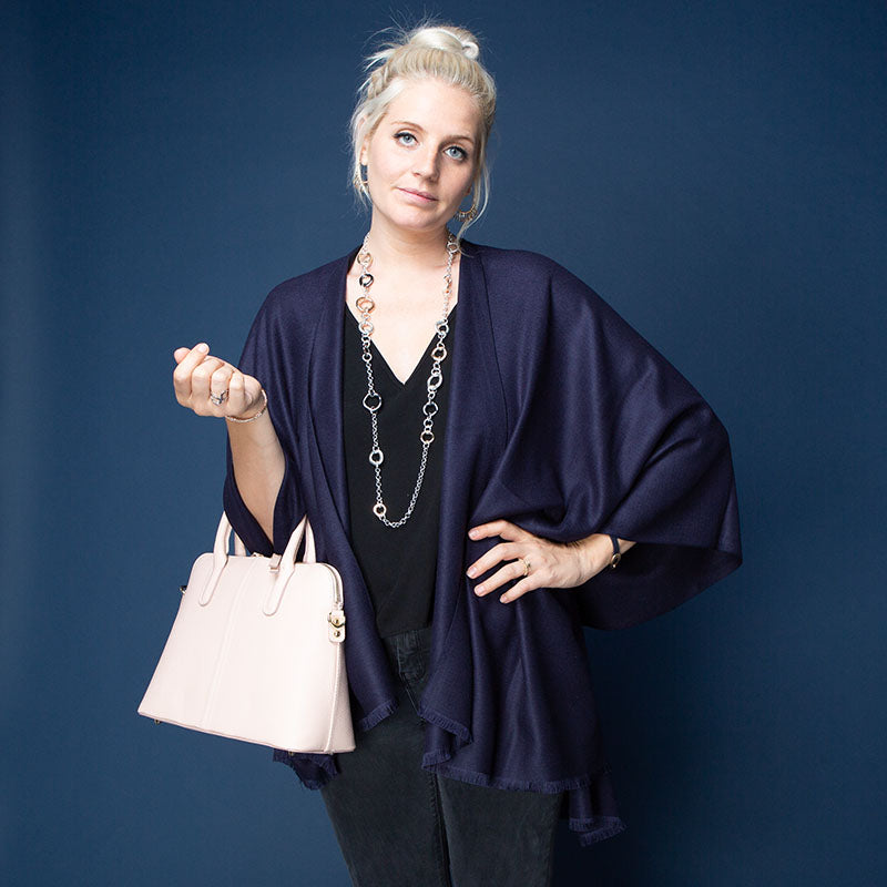 Elsie Wrap Navy Tilley & Grace - Fab Frocks