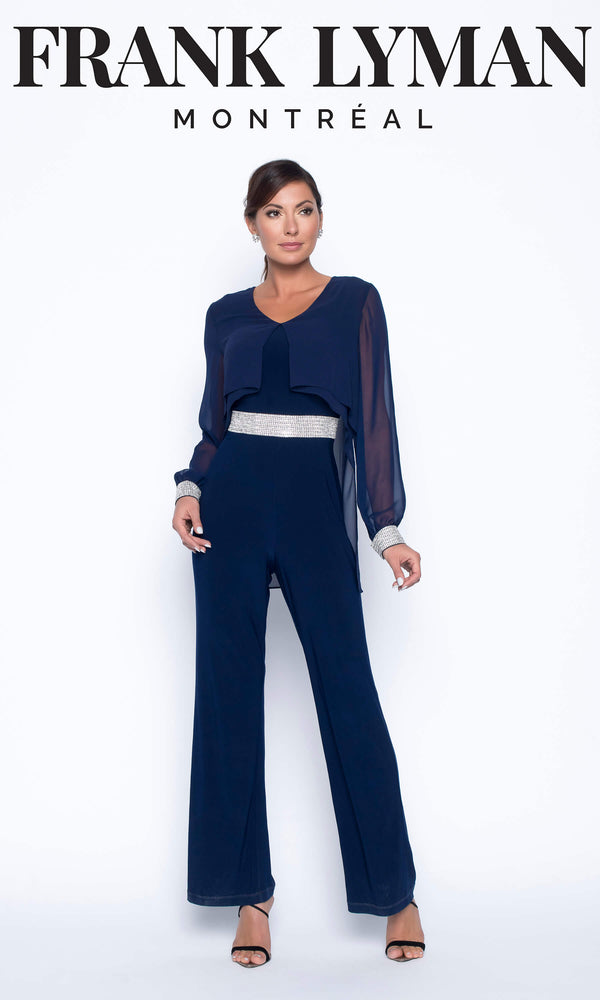 199005 Midnight Frank Lyman Evening Trouser Jump Suit