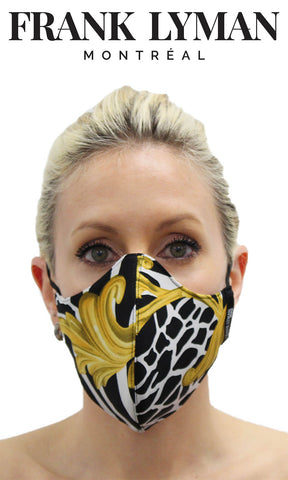 Frank Lyman Black Animal Print Non-Medical Face Mask - Fab Frocks