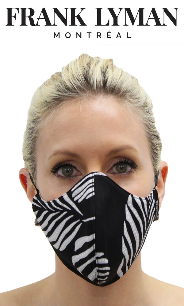 Frank Lyman Black Palm Print Non-Medical Face Mask