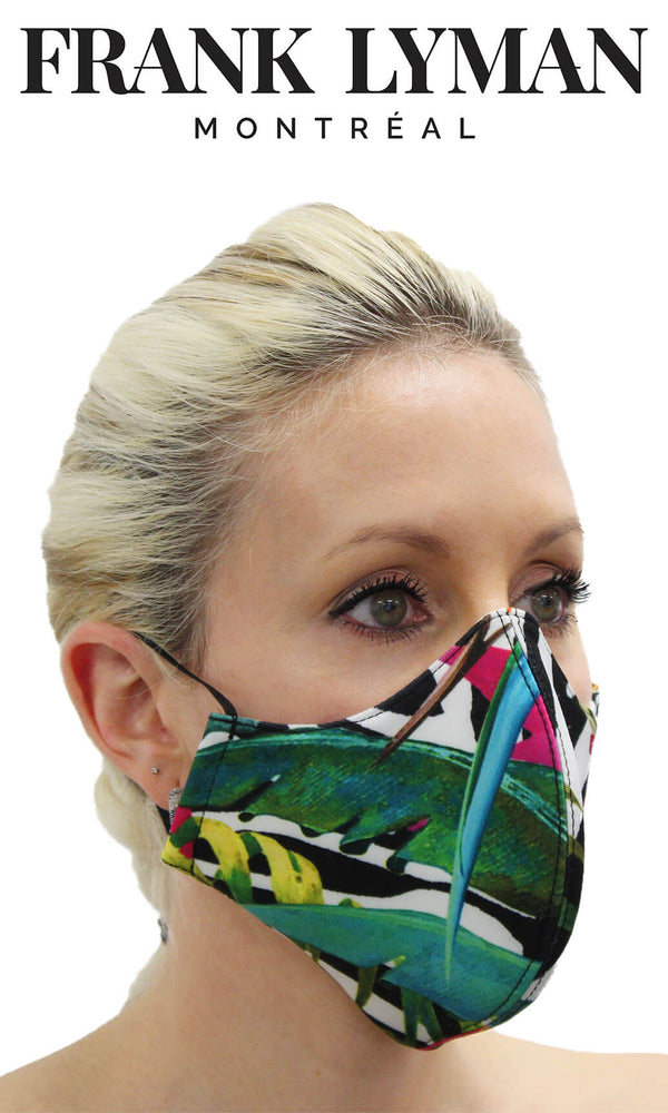 Frank Lyman Tropical Print Non-Medical Face Mask