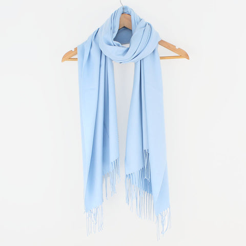 Georgia Pashmina Baby Blue Tilley & Grace - Fab Frocks