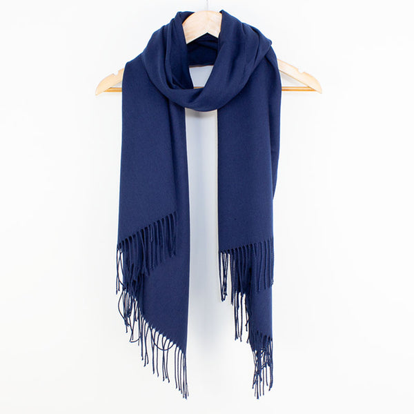 Georgia Pashmina Navy Tilley & Grace