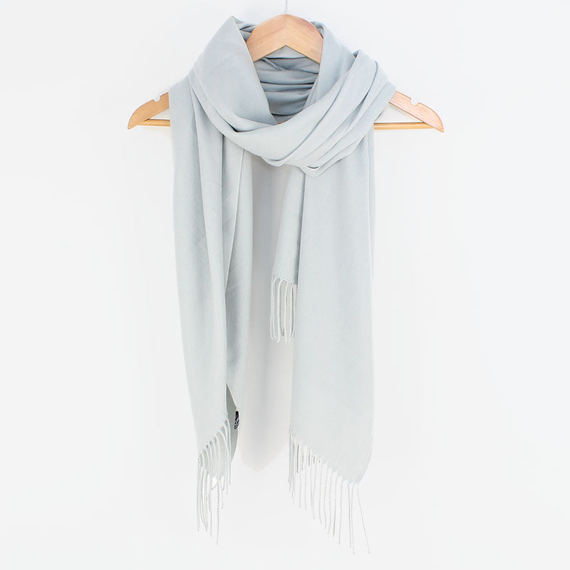 Georgia Pashmina Silver Grey Tilley & Grace - Fab Frocks
