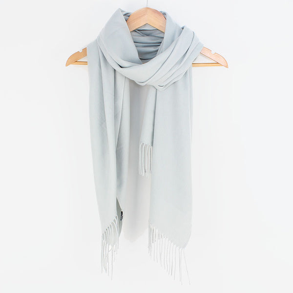 Georgia Pashmina Silver Grey Tilley & Grace