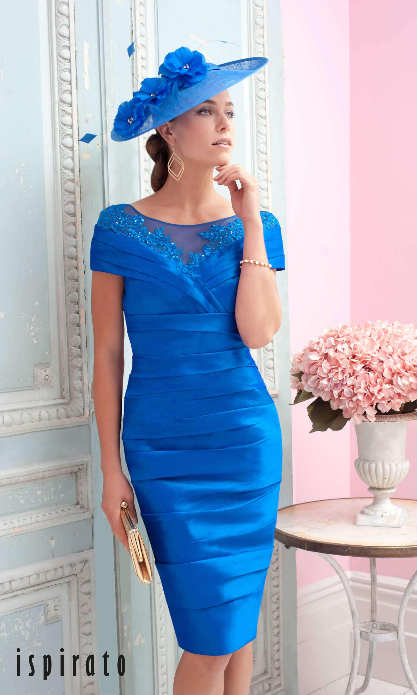 ISC831 Indigo Blue Ispirato Special Occasion Dress