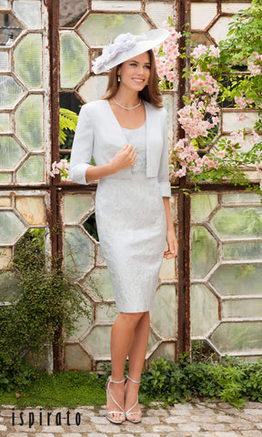 ISC913 Dawn Crystal Ispirato Dress With Sleeves & Bolero