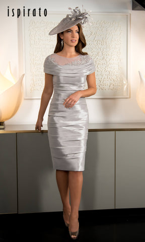 ISD813 Marble Grey Ispirato Special Occasion Dress - Fab Frocks