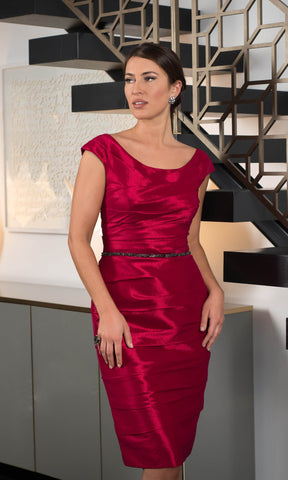 ISD929 Morello Red Ispirato Dress & Bolero