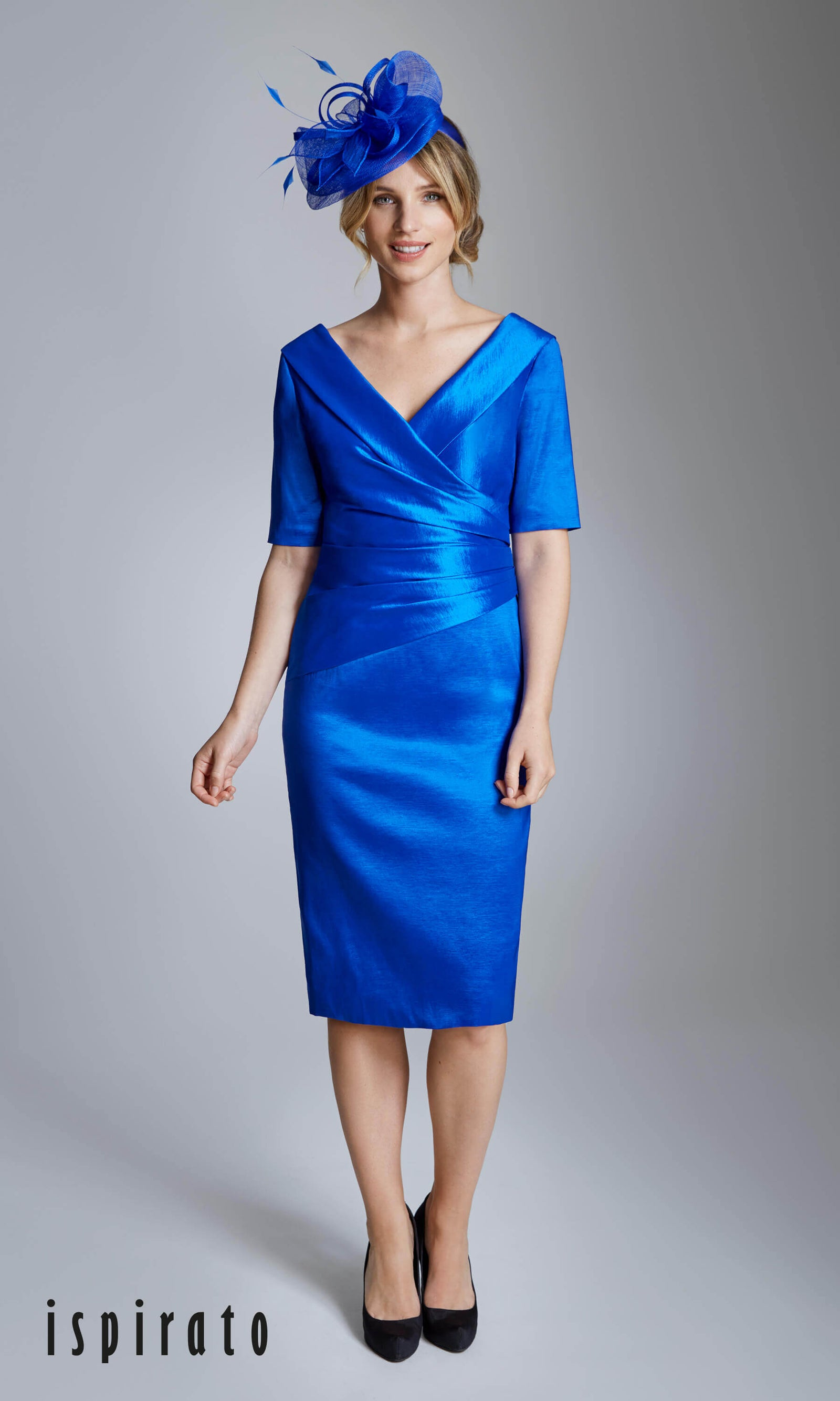 ISE821 Indigo Ispirato Wide Neck Special Occasion Dress - Fab Frocks