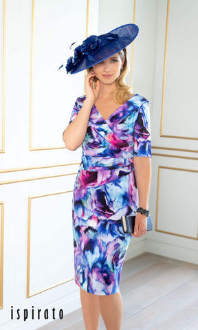 ISE823 Angelica Print Ispirato Mother Of The Bride Dress