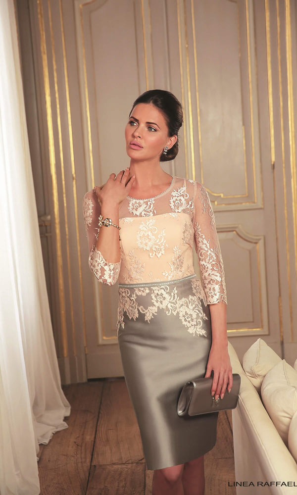 Set 47 Soft Peach Linea Raffaelli Special Occasion Dress