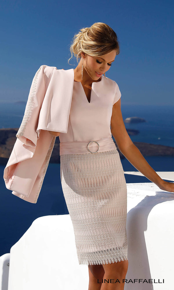 Set 290 Blossom Pink Linea Raffaelli Dress & Jacket - Fab Frocks