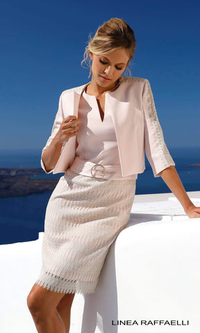 Set 290 Blossom Pink Linea Raffaelli Dress & Jacket