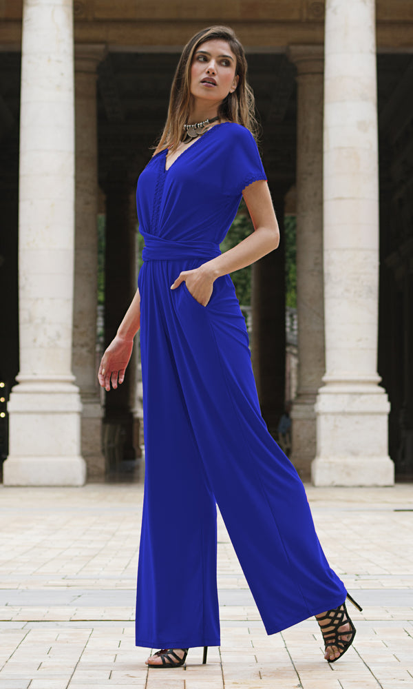 9035 Royal Michaela Louisa Jersey Jumpsuit
