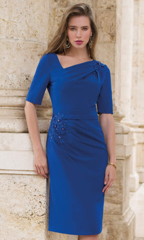 9080 Royal Michaela Louisa Occasion Dress With Sleeves - Fab Frocks