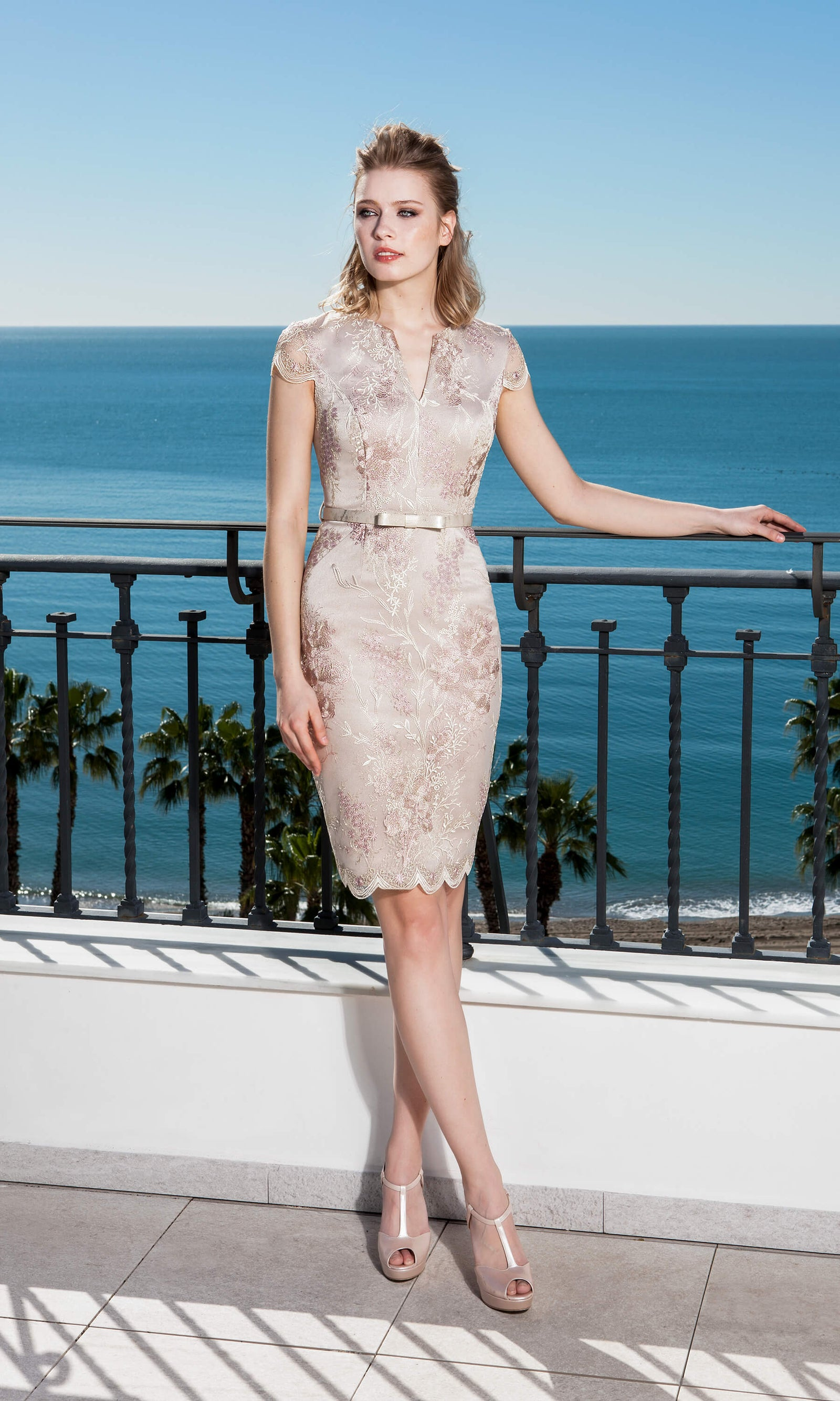 11190190 Pink Sonia Pena Lace Special Occasion Dress