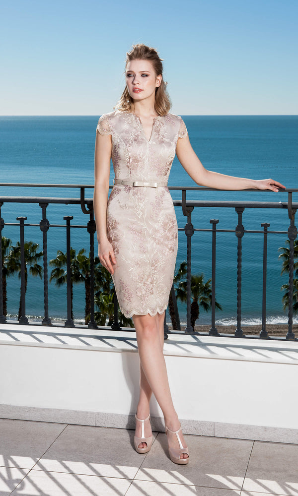 11190190 Pink Sonia Pena Lace Special Occasion Dress - Fab Frocks