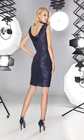 12190022 Night Blue Sonia Pena Sequin Party Dress