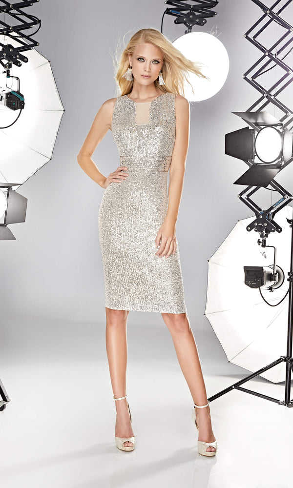 12190027 Champagne Sonia Pena Sequin Party Dress