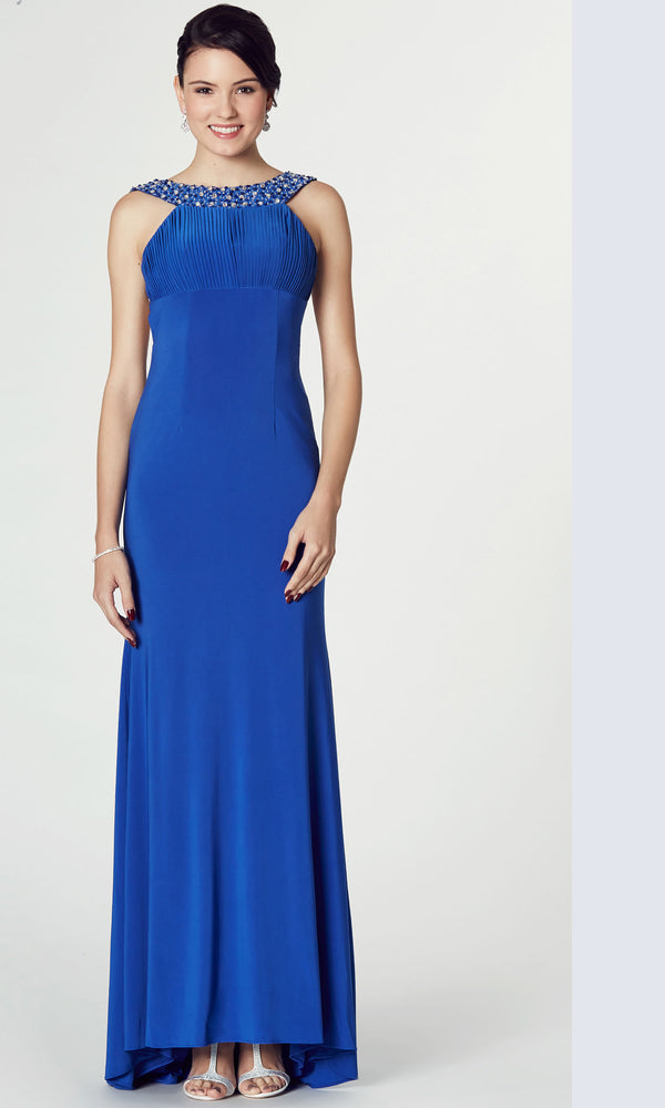 Tiffanys Illusion Tiegan Royal Blue Evening Prom Dress - Fab Frocks