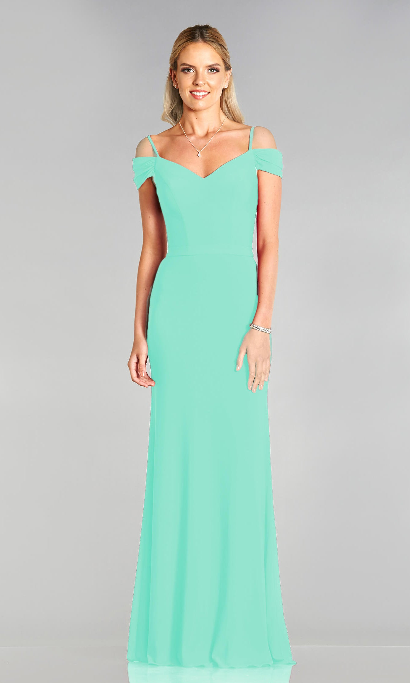 Lucy* Mint Tiffanys Off The Shoulder Prom Dress