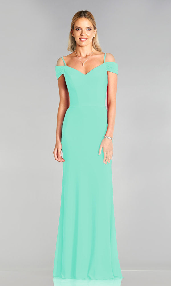 Lucy* Mint Tiffanys Off The Shoulder Prom Dress - Fab Frocks