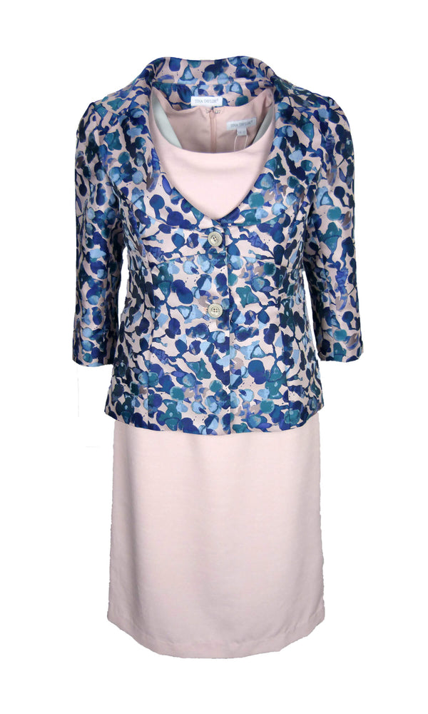 505637 530813 Blush Blue Tina Taylor Shift Dress & Jacket
