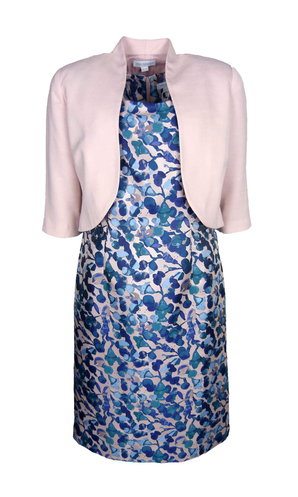 505713 530837 Blush Tina Taylor Print Dress And Bolero
