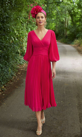Veni Infantino Invitations 29607 Cherry Pleated Midi Dress - Fab Frocks