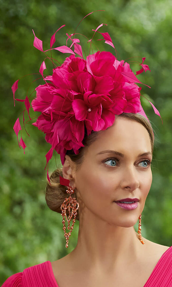 Veni Infantino Invitations RJ1109 Cherry Fascinator On Band - Fab Frocks