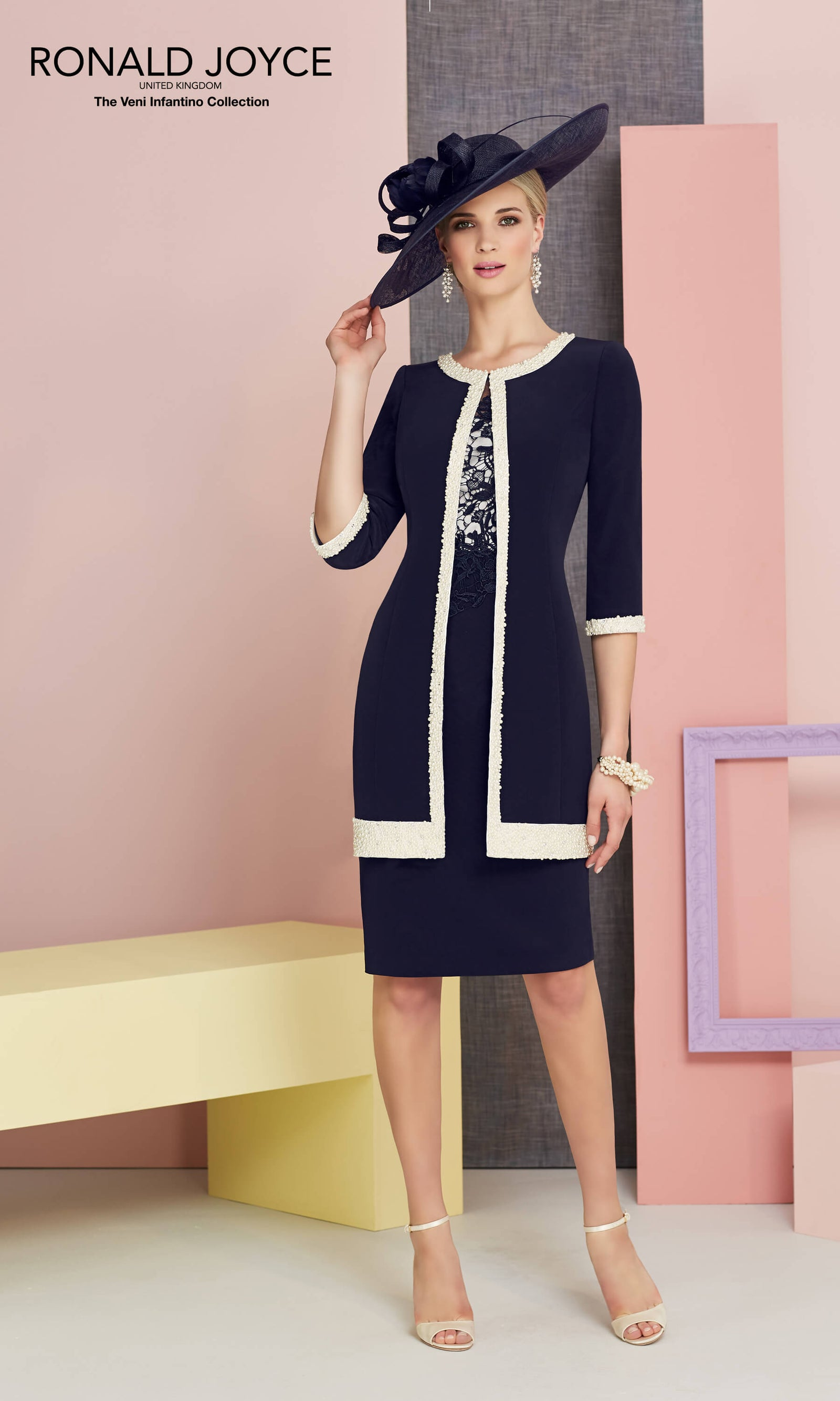 991314 Navy Ivory Veni Infantino Dress & Frock Coat