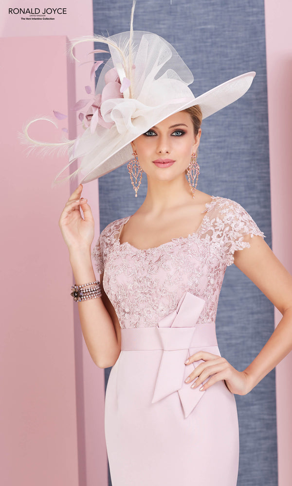 991361 Blush Pink Veni Infantino Dress & Bolero Jacket