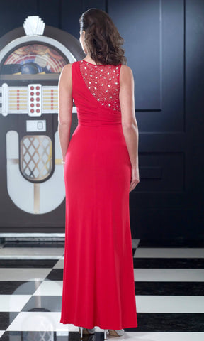 VO3013 Red Veromia Occasions Jersey Evening Gown - Fab Frocks