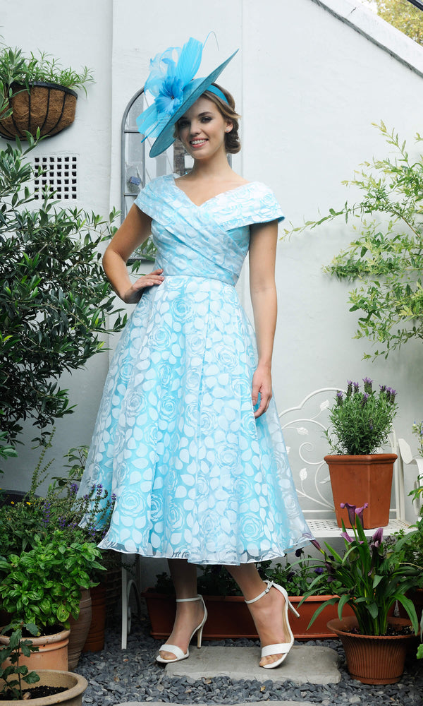 Veromia Occasions VO6523 Turquoise Blue Occasion Dress - Fab Frocks