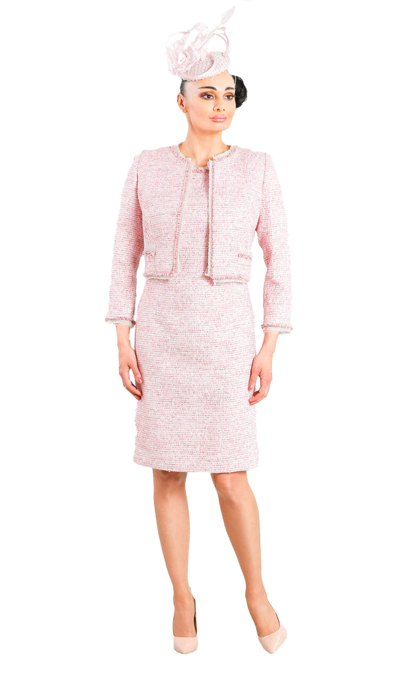 X51 D863 Pink Luis Civit Chanel Inspired Dress & Bolero
