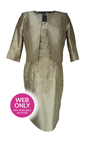 Zeila 3018699 Nude Dress & Two Bolero Jackets