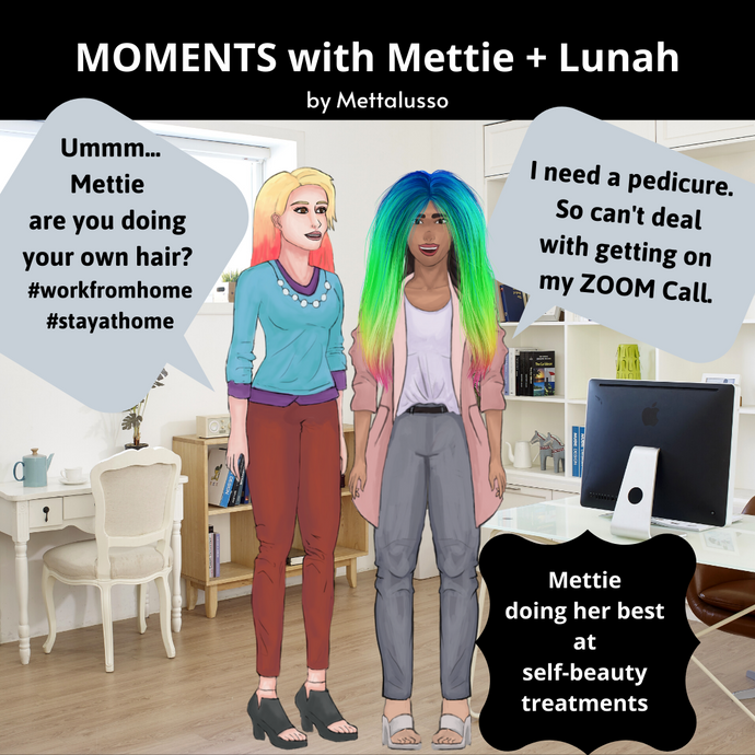 MOMENTS with Mettie + Lunah- Mettie Tries Her Best with #ATHOME Beauty Treatments