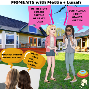 MOMENTS with Mettie + Lunah's Forever Journey. They reflect on their relationship from childhood and wonder if we really change as we get older.