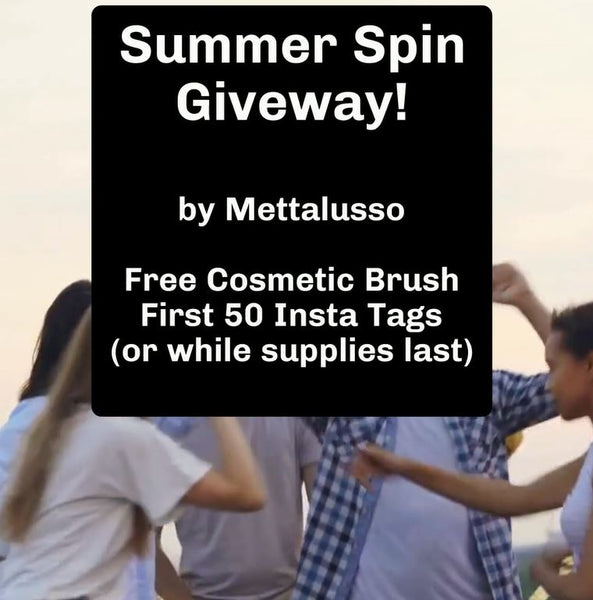 Mettalusso Media Summer Spin Free Cosmetic Foundation Brush Promotion