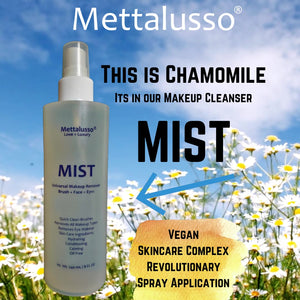 Mettalusso MIST Revolutionary Vegan and Oil Free Makeup Cleanser with Chamomile