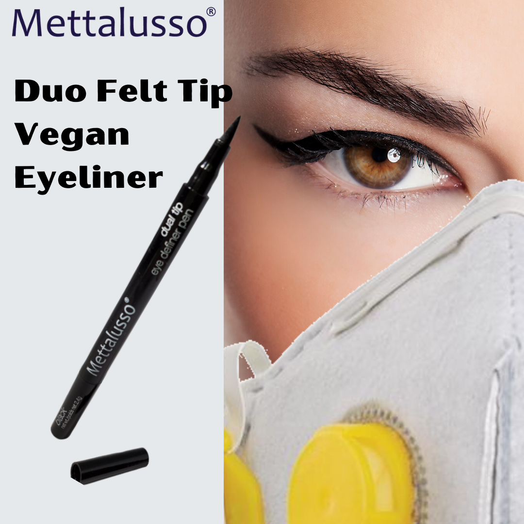 Covid  Mask Wearing Requirements make it all about eye makeup. Get MULTI Vegan Eyeliner from Mettalussoo