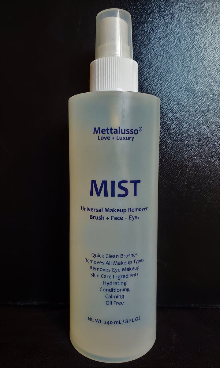 METTALUSSO MIST Revolutionary Universal Makeup Remover Clean Beauty + Vegan + Cruelty Free Oil Free with 4 Skincare Ingredients