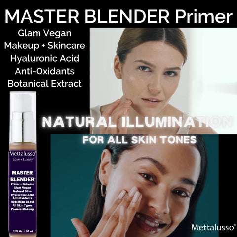 Mettalusso Master Blender Primer and Skincare for All Skin Types Powers Up Your Makeup for a fully natural look