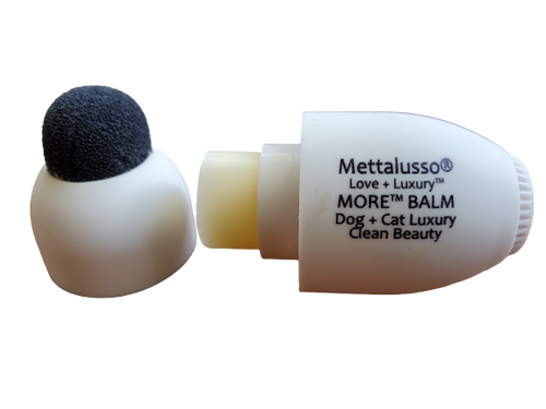 Mettalusso MORE Pet Balm for Cats and Dogs with spong top and 100% all natural ingredients