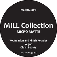 Mettalusso Micro Matte Foundation and Finish Pressed Powder is vegan clean beauty with a super fine texture that prevents fly aways