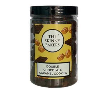 Double Chocolate Caramel Cookies (2 sizes available)